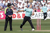 Tom Curran in bowling action for Surrey during Essex Eagles vs Surrey, Vitality Blast T20 Cricket at The Cloudfm County Ground on 5th August 2018