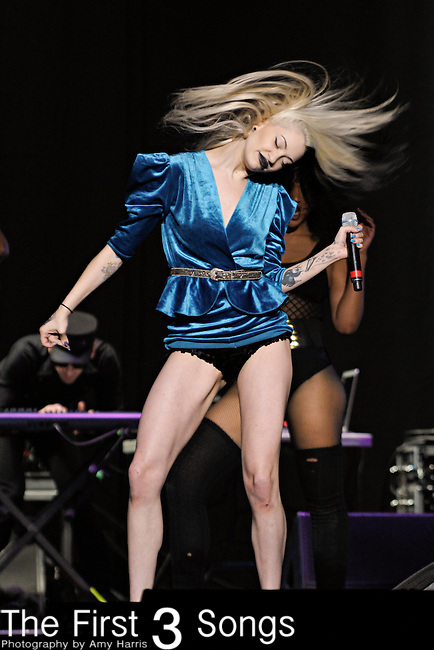 Porcelain Black (real name Alaina Beaton) performs at Quicken Loans Arena in Cleveland, OH on Thursday March 24, 2011.
