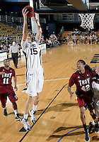 Florida International University center Gilles Dierickx (15) plays against Troy University, which won the game 75-70 in overtime on February 23, 2012 at Miami, Florida. .
