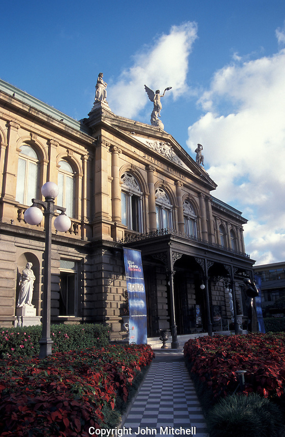 The Teatro Nacional or National Theatre on the Plaza de la Cultura in downtown San Jose, Costa Rica