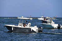 DEERFIELD BEACH, FL - JULY 31: Boaters are seen in the Hillsboro Inlet as Hurricane Isaias tracks towards Florida in addition to Florida reporting more than 9,007 new COVID-19 cases Friday and 257 deaths on July 31, 2020 in Deerfield Beach, Florida. Credit: mpi04/MediaPunch