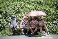 polka dot fans<br /> <br /> Stage 18 (ITT) - Sallanches › Megève (17km)<br /> 103rd Tour de France 2016