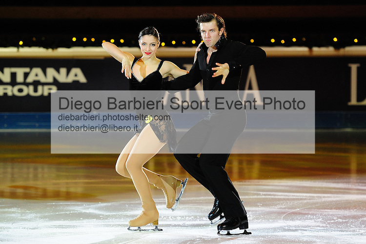 2012.01.01 Stefania Berton Ondrey Hotarek exhibit at Capodanno on Ice, ice figure skating gala at Palavela in Turin, Italy<br /> <br /> Editorial use only