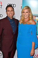 LOS ANGELES, CA. November 09, 2018: Mike Hatton &amp; Kristine Lazar at the AFI Fest 2018 world premiere of &quot;Green Book&quot; at the TCL Chinese Theatre.<br /> Picture: Paul Smith/Featureflash