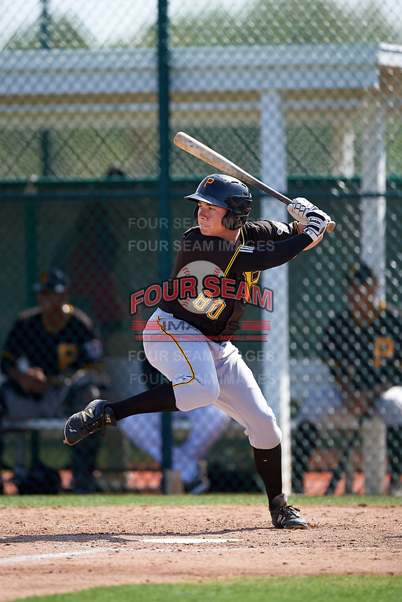 Pittsburgh Pirates Ty Moore (80) during a minor league Spring Training intrasquad game on April 3, 2016 at Pirate City in Bradenton, Florida.  (Mike Janes/Four Seam Images)