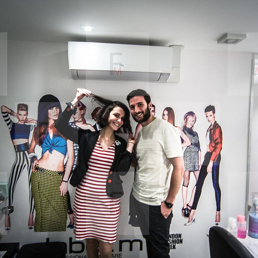 L'atelier in Curzon Street di Toni &amp; Guy la catena internazionale di parrucchieri famosa nel mondo.<br /> <br /> Toni &amp; Guy atelier in Curzon Street, the international company of hair stylists famous in the worldwide.