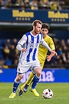 David Zurutuza Veillet of Real Sociedad fights for the ball with Rodrigo Hernández Cascante of Villarreal CF during their Copa del Rey 2016-17 Round of 16 match between Villarreal and Real Sociedad at the Estadio El Madrigal on 11 January 2017 in Villarreal, Spain. Photo by Maria Jose Segovia Carmona / Power Sport Images