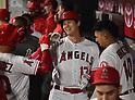 MLB: Los Angeles Angels Shohei Ohtani hits home run against Texas Rangers