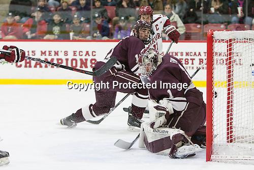 Jake Kulevich (Colgate - 11), Charlie Finn (Colgate - 1) -  - The Harvard University Crimson defeated the visiting Colgate University Raiders 7-4 (EN) on Saturday, February 20, 2016, at Bright-Landry Hockey Center in Boston, Massachusetts.