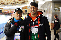 SPEEDSKATING: BERLIN: Sportforum Berlin, 27-01-2017, ISU World Cup, Joji Kato (JPN), Kai Verbij (NED), ©photo Martin de Jong