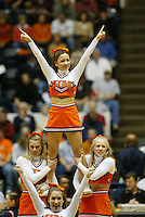 UVa cheer in Charlottesville, Va. Photo/Andrew Shurtleff