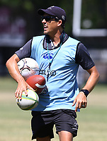 Alan Basson - Zondagh (Skills Coach) of the Cell C Sharks during the cell c sharks pre season training session at  Growthpoint Kings Park ,22,01,2018 Photo by Steve Haag)