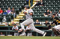 Jupiter Hammerheads outfielder Matt Juengel (25) during a game against the Bradenton Marauders on April 19, 2014 at McKechnie Field in Bradenton, Florida.  Bradenton defeated Jupiter 4-0.  (Mike Janes/Four Seam Images)