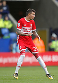 9th September 2017, Macron Stadium, Bolton, England; EFL Championship football, Bolton Wanderers versus Middlesbrough; Marvin Johnson making his debut for Middlesbrough today