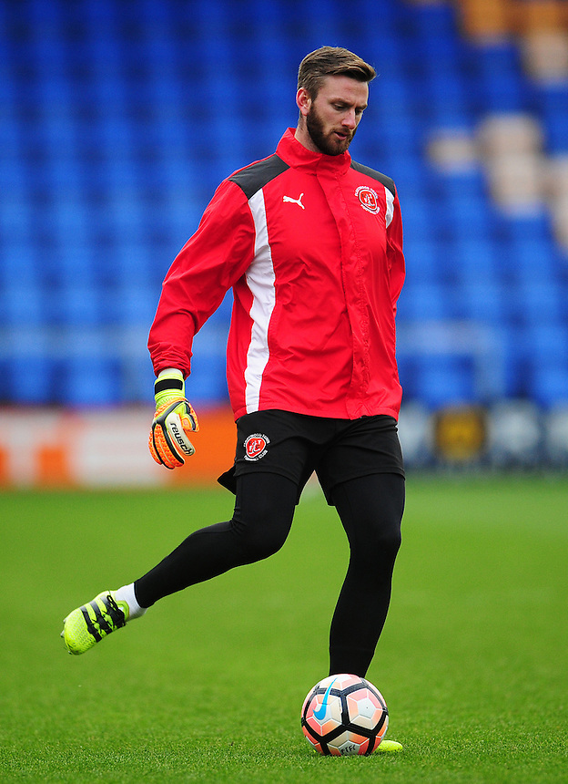 Fleetwood Town's Chris Neal during the pre-match warm-up <br /> <br /> Photographer Kevin Barnes/CameraSport<br /> <br /> The Emirates FA Cup Second Round - Shrewsbury Town v Fleetwood Town - Saturday 3rd December 2016 - Greenhous Meadow - Shrewsbury <br />  <br /> World Copyright &copy; 2016 CameraSport. All rights reserved. 43 Linden Ave. Countesthorpe. Leicester. England. LE8 5PG - Tel: +44 (0) 116 277 4147 - admin@camerasport.com - www.camerasport.com