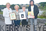 FOR STORY .Laune Art Group are inviting everyone to attend an art exhibition at the CYMS  hall in Killorglin next week which include works from five local artists. .L-R Diana Deering, Eve Bird, Mary Pat O'Sullivan and Antanas Burokas