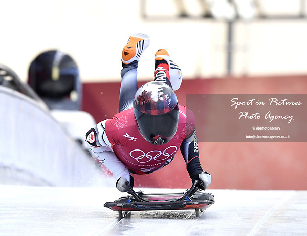 Elisabeth Vathje (CAN). Skeleton training. Alpensia sliding centrePyeongchang2018 winter Olympics. Alpensia. Republic of Korea. 13/02/2018. ~ MANDATORY CREDIT Garry Bowden/SIPPA - NO UNAUTHORISED USE - +44 7837 394578
