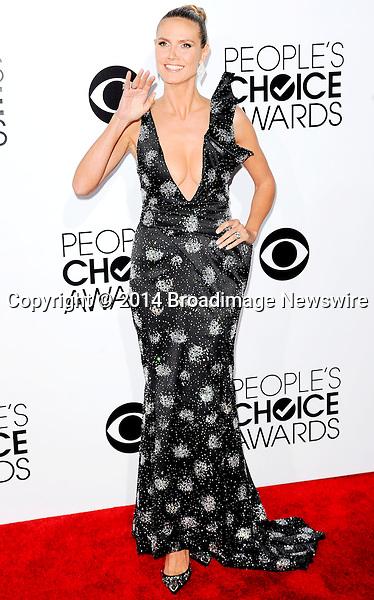 Pictured: Heidi Klum<br /> Mandatory Credit &copy; Adhemar Sburlati/Broadimage<br /> People's Choice Awards 2014 - Arrivals<br /> <br /> 1/8/14, Los Angeles, California, United States of America<br /> <br /> Broadimage Newswire<br /> Los Angeles 1+  (310) 301-1027<br /> New York      1+  (646) 827-9134<br /> sales@broadimage.com<br /> http://www.broadimage.com