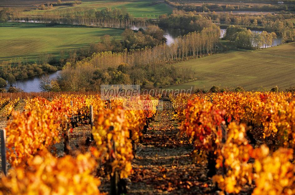 Europe/France/89/Yonne/Irancy: Le vignoble et la vallée de l'Yonne