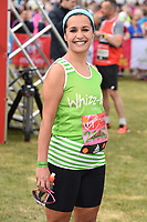 Nina Hossein at the start of the 2017 London Marathon on Blackheath Common, London, UK. <br /> 23 April  2017<br /> Picture: Steve Vas/Featureflash/SilverHub 0208 004 5359 sales@silverhubmedia.com