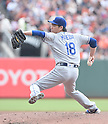 Kenta Maeda (Dodgers),<br /> OCTOBER 2, 2016 - MLB :<br /> Kenta Maeda of the Los Angeles Dodgers pitches during the Major League Baseball game against the San Francisco Giants at AT&amp;T Park in San Francisco, California, United States. (Photo by AFLO)