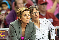 Los Angeles, CA - February 17, 2019.  The Stanford Cardinal women's basketball team defeated the USC Trojans 69-67.
