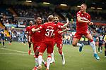 04.08.2019 Kilmarnock v Rangers: Scott Arfield, Alfredo Morelos and Nikola Katic celebrate