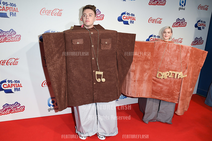 LONDON, UK. December 08, 2018: Roman Kemp &amp; Anne-Marie at Capital&rsquo;s Jingle Bell Ball 2018 with Coca-Cola, O2 Arena, London.<br /> Picture: Steve Vas/Featureflash