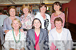 PRIZE NIGHT: Enjoying a great time at the Lady President Prize at Tralee Golf Club on Sunday seated l-r: Maura McKenna, Fiona Lally and Peig Lally. Back l-r: Joan Kelly, Joan Costello, Mary Savage and Fionnuala Mann.