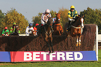 The field in jumping action during the October Handicap Chase