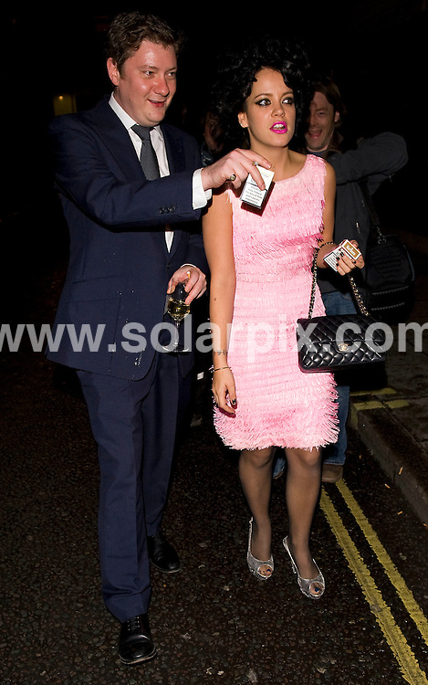 **ALL ROUND PICTURES FROM SOLARPIX.COM**.**WORLDWIDE SYNDICATION RIGHTS**.Outside arrivals at GQ Magazine's 20th Anniversary party. Held at St Albans restaurant, Regents Street, London, UK. Thursday November 6, 2008...This pic: Lily Allen..JOB REF:  7811 SSD     DATE: 06_11_2008.**MUST CREDIT SOLARPIX.COM OR DOUBLE FEE WILL BE CHARGED* *UNDER NO CIRCUMSTANCES IS THIS IMAGE TO BE REPRODUCED FOR ANY ONLINE EDITION WITHOUT PRIOR PERMISSION*