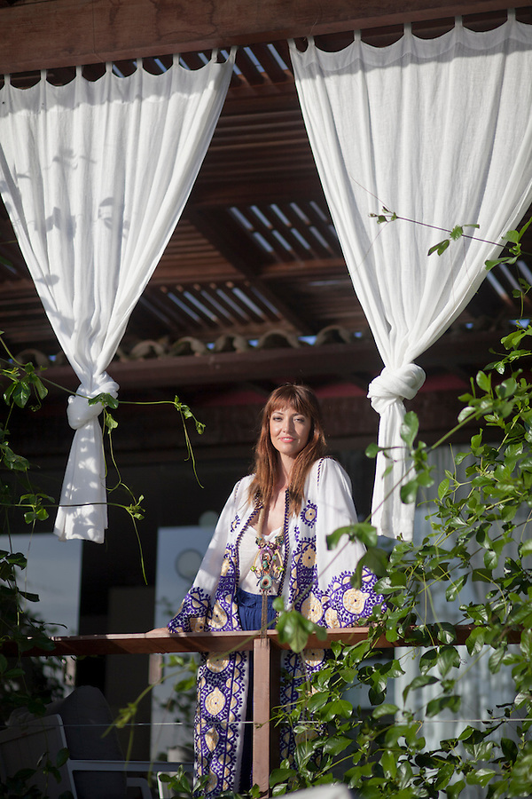 French countess Emanuelle Meeus de Clermont-Tonnerre, at her pousada, Insolito Boutique Hotel.