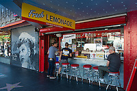 Cafe on the walk of fame, Hollywood, California