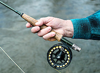 Richard Friedland casts a fly fishing rod near Colorado Springs, Colorado, Monday, May 4, 2015. <br /> <br /> Photo by Matt Nager