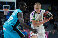 Movistar Estudiantes Sitapha Savane and Unicaja Malaga Sasu Salin during Liga Endesa match between Movistar Estudiantes and Unicaja Malaga at Wizink Center in Madrid , Spain. March 04, 2018. (ALTERPHOTOS/Borja B.Hojas) /NortePhoto.com NORTEPHOTOMEXICO