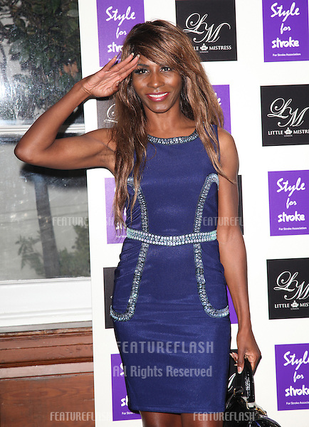 Sinitta arriving for the Style for Stroke Party, 5 Cavendish Square, London. 02/10/2012 Picture by: Alexandra Glen / Featureflash