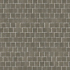 Staggered 4 cm, a hand-cut stone mosaic, shown in honed Montevideo.