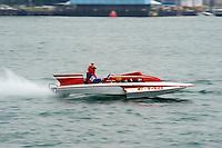 E-148, 280 class hydroplane..10-12 July, 2009, 100th Gold Cup, Detroit River, Detroit, MI USA..©2009 F.Peirce Williams, USA.
