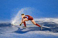 2nd February 2020; Sydney Olympic Park, Sydney, New South Wales, Australia; Womens International FIH Field Hockey, Australia versus Great Britain Women; Sarah Robertson of Great Britain tries to clear the puddles of rain from the pitch