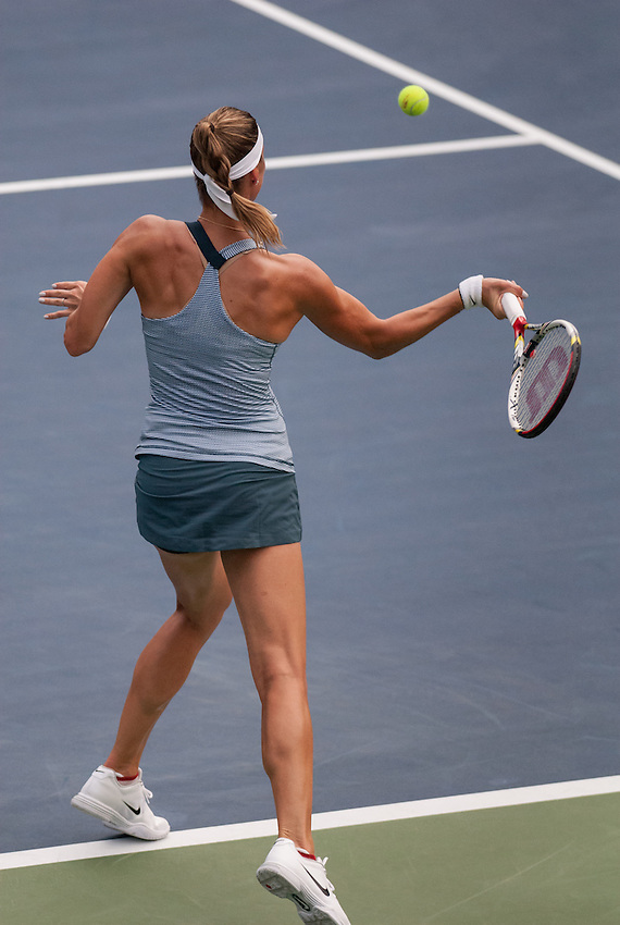 NEW YORK, NY - August 26, 2013: Mandy Minella (LUX) during her first round single's match at the 2013 US Open in New York, NY on Monday, August 26, 2013.