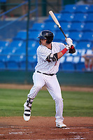 Great Falls Voyagers Sam Abbott (11) at bat during a Pioneer League game against the Missoula Osprey at Centene Stadium at Legion Park on August 19, 2019 in Great Falls, Montana. Missoula defeated Great Falls 1-0 in the second game of a doubleheader. (Zachary Lucy/Four Seam Images)