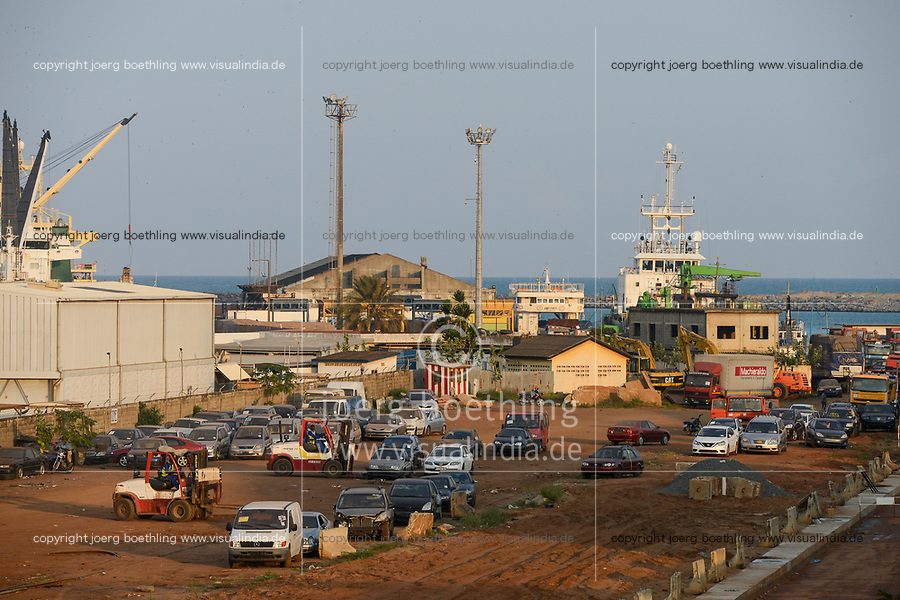 TOGO, Lome, port, RoRo terminal for used cars from Europe