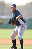 March 19th 2008:  Diego Echeverria of the Tampa Bay Devil Rays minor league system during Spring Training at the Raymond A. Naimoli Complex in St. Petersburg, FL.  Photo by:  Mike Janes/Four Seam Images