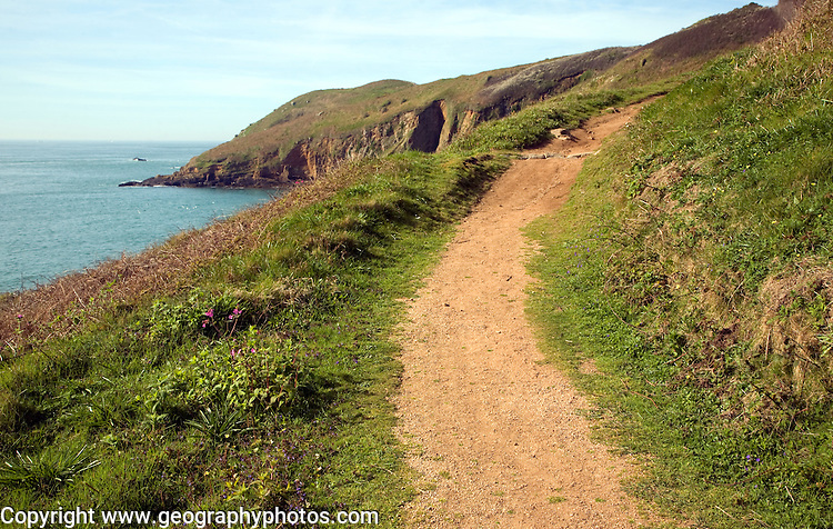 Footpath south east Island of Herm, Channel Islands, Great Britain