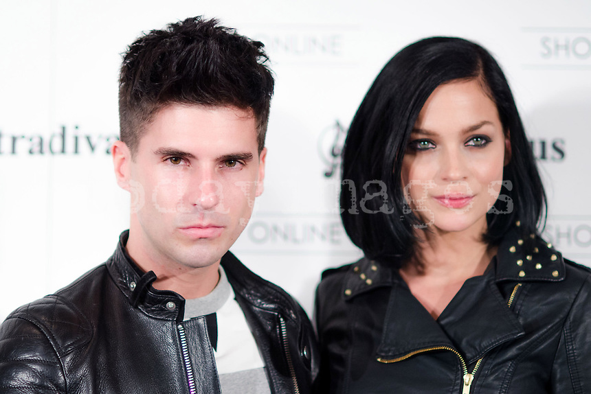 "Leigh Lezark and Geordon Nicol at Stradivarius store for the collection ""Fiesta'12 party  in Madrid"
