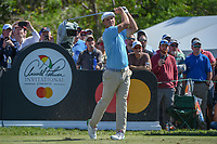 Bryson DeChambeau (USA) watches his tee shot on 7 during round 1 of the Arnold Palmer Invitational at Bay Hill Golf Club, Bay Hill, Florida. 3/7/2019.<br /> Picture: Golffile | Ken Murray<br /> <br /> <br /> All photo usage must carry mandatory copyright credit (&copy; Golffile | Ken Murray)