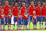 LONDON, ENGLAND - MAY 12: York City line up before the FA Carlsberg Trophy Final between York City and Newport County at Wembley Stadium on May 12, 2012 in London, England. (Photo by Dave Horn - Extreme Aperture Photography)