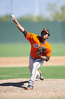 San Francisco Giants minor league pitcher Luis Rojas #74 during an instructional league game against the Oakland Athletics at the Papago Park Baseball Complex on October 17, 2012 in Phoenix, Arizona. (Mike Janes/Four Seam Images)
