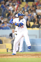 06/06/13 Los Angeles, CA: Los Angeles Dodgers shortstop Hanley Ramirez #13 during an MLB game played between the Los Angeles Dodgers and the Atlanta Braves at Dodger Stadium. The Dodgers defeated the Braves 5-0.