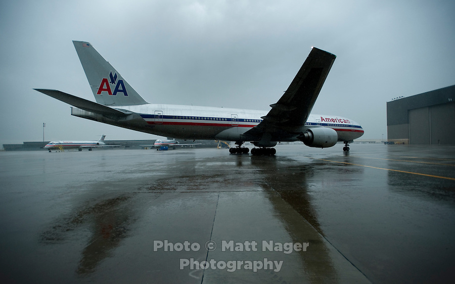 An American Airlines plane at Dallas-Fort Worth International Airport (DFW) in Dallas, Texas, Friday, May 14, 2010. ..PHOTO: MATT NAGER